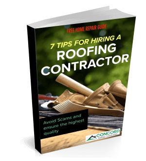 7 Tips to hiring a roofing contractor ebook cover