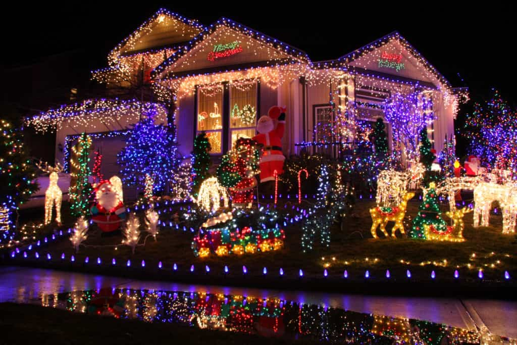 Beautiful Christmas lights display